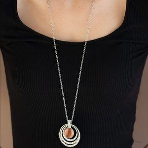 A diamond a day orange necklace